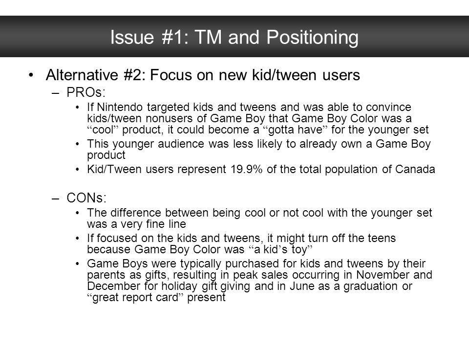 Issue #1: TM and Positioning