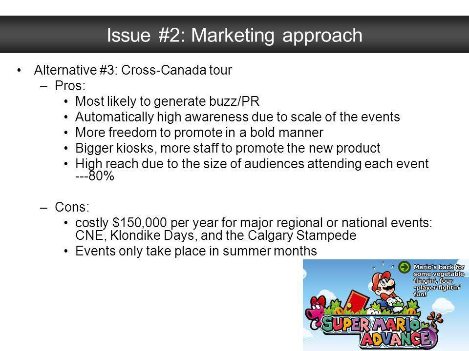 Issue #2: Marketing approach