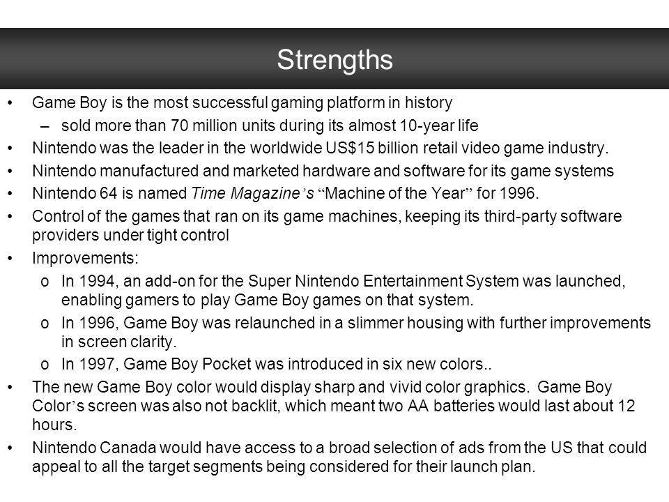 Strengths Game Boy is the most successful gaming platform in history