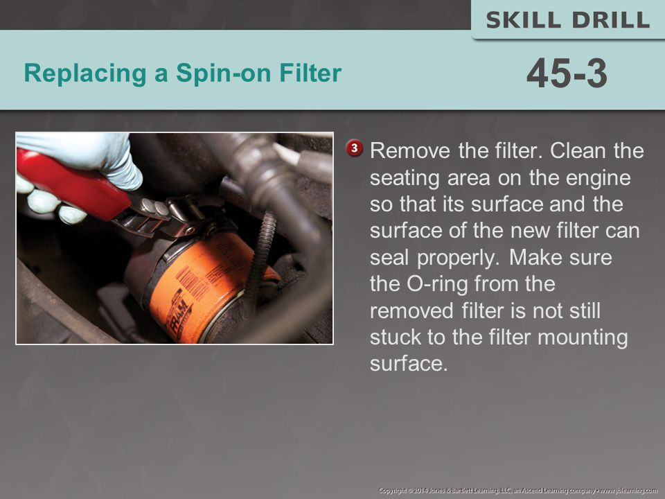 Replacing a Spin-on Filter