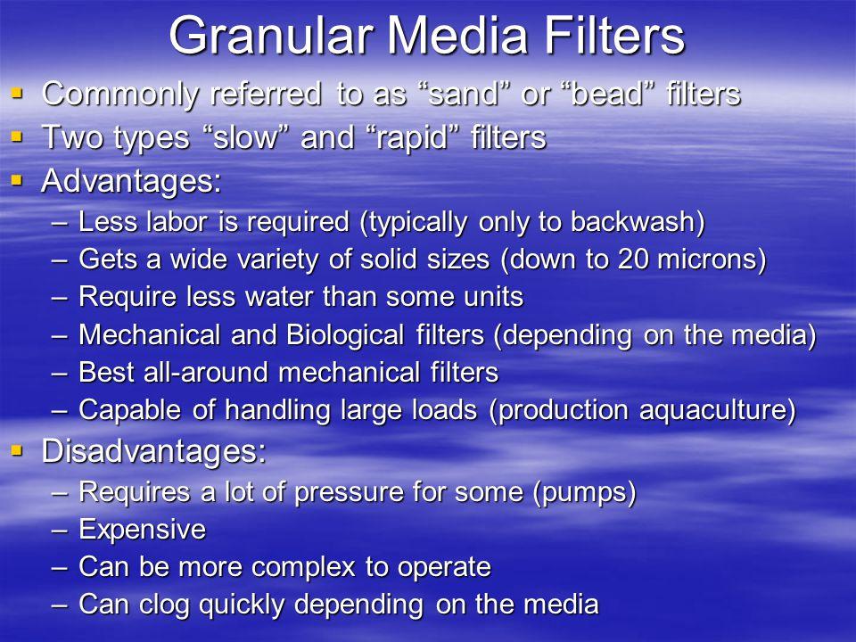 Granular Media Filters