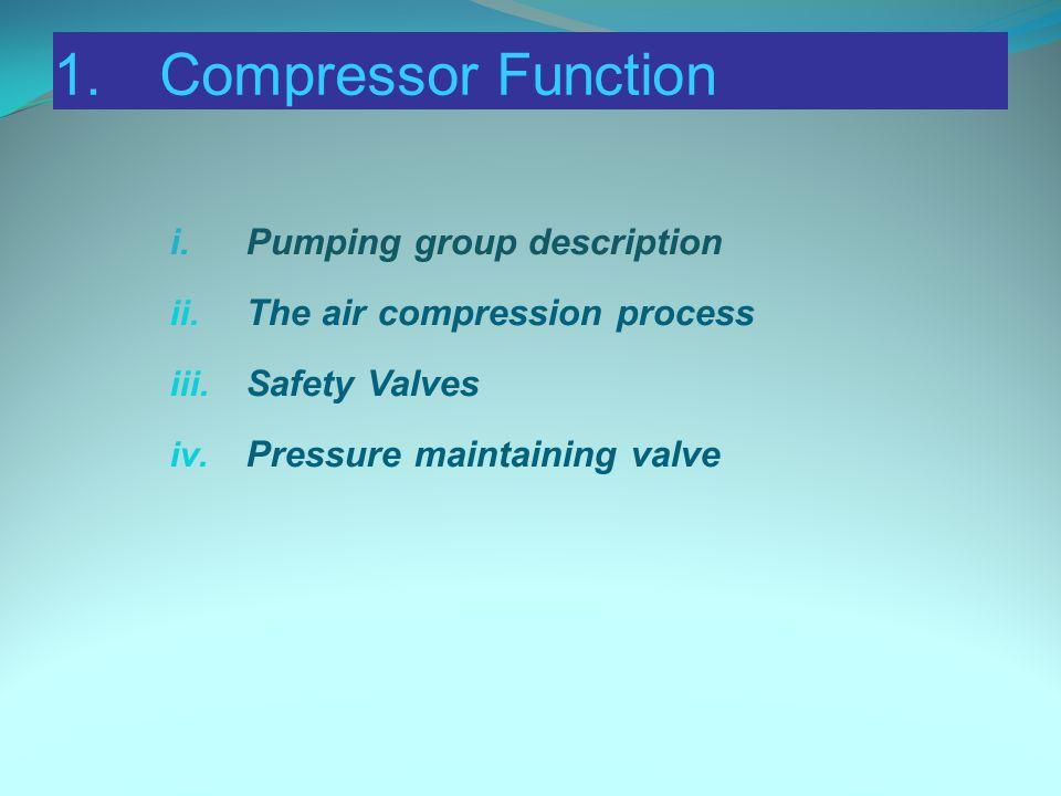 1. Compressor Function i. Pumping group description