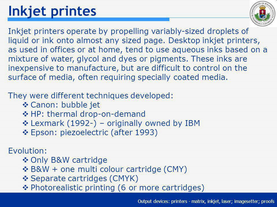 Inkjet printes