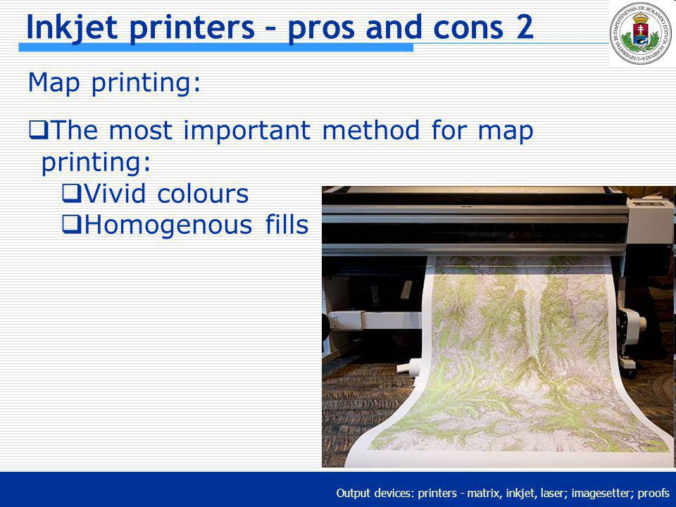Inkjet printers – pros and cons 2