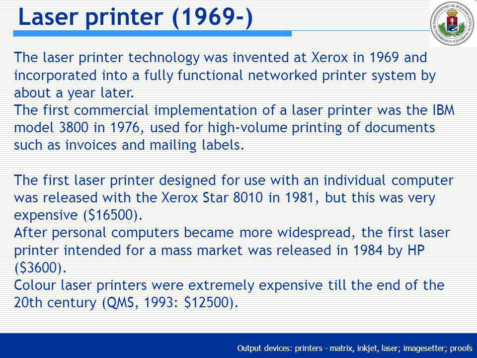 Laser printer (1969-)