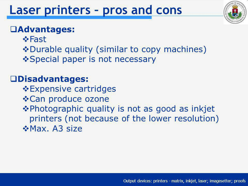 Laser printers – pros and cons