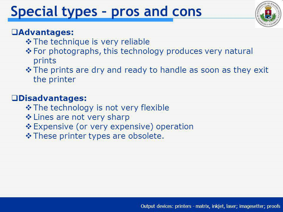 Special types – pros and cons