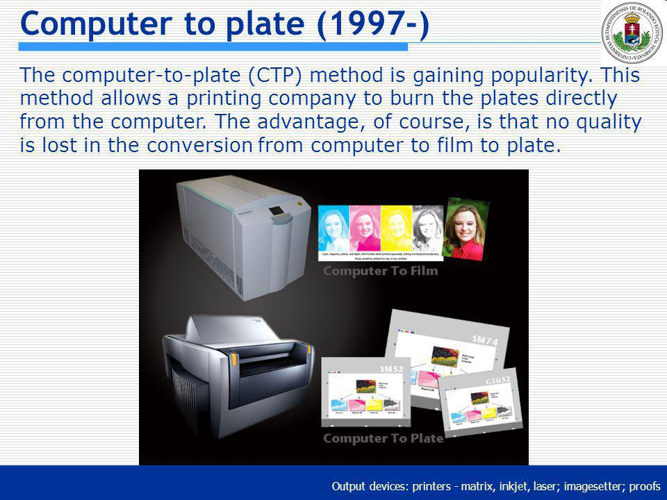Computer to plate (1997-)