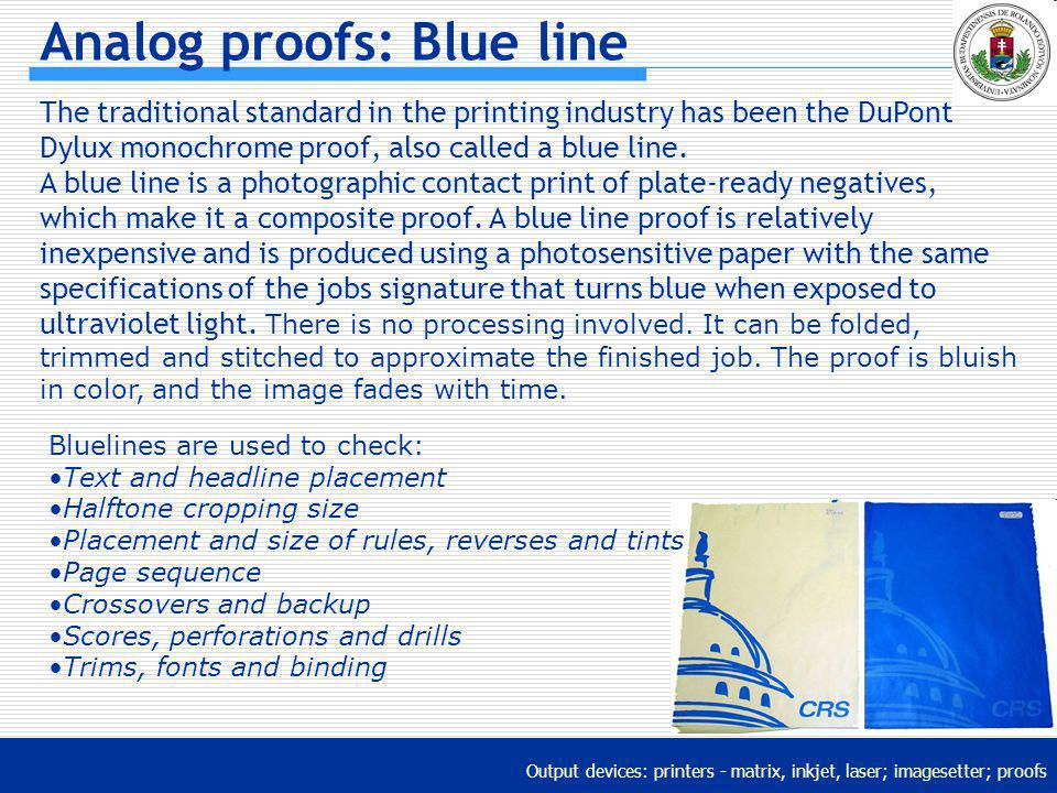 Analog proofs: Blue line