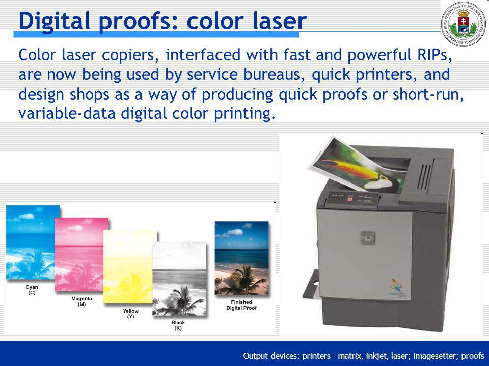 Digital proofs: color laser