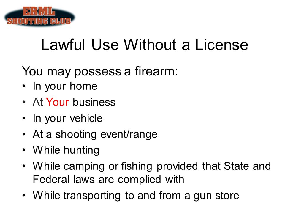 Lawful Use Without a License