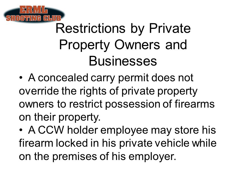 Restrictions by Private Property Owners and Businesses
