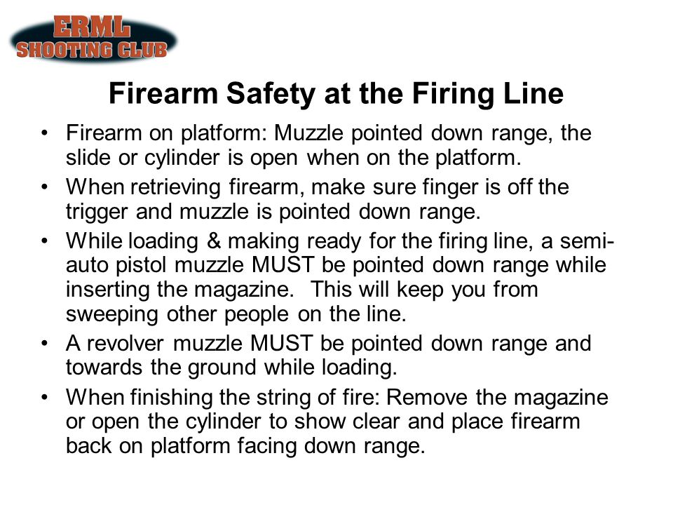 Firearm Safety at the Firing Line