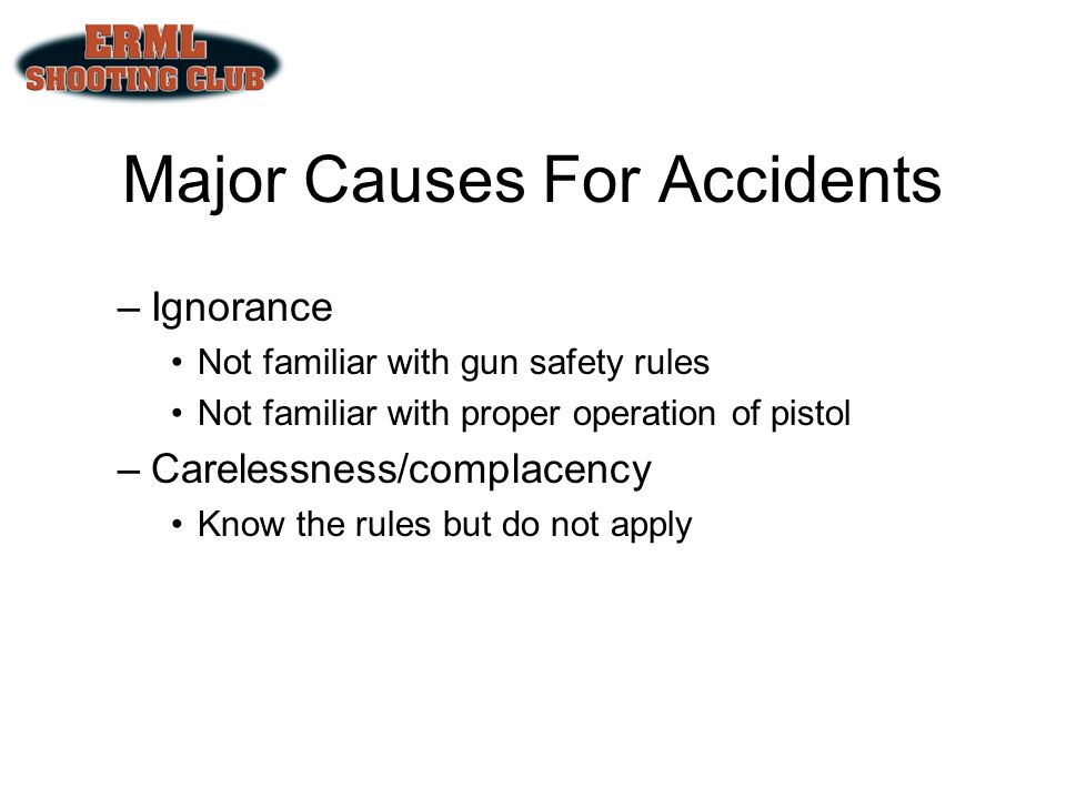 Major Causes For Accidents