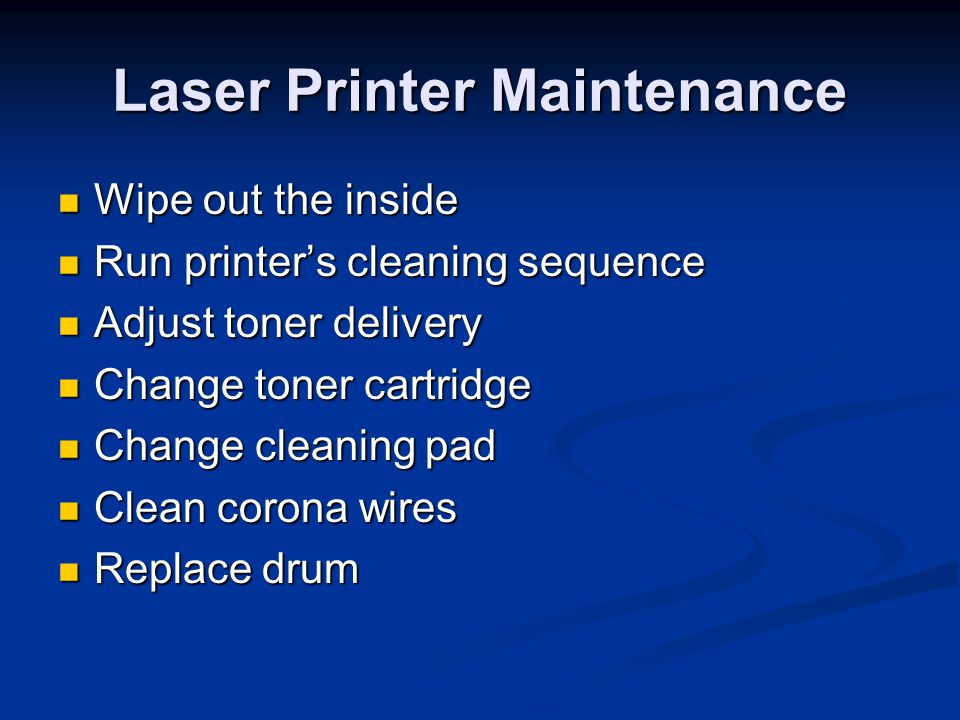 Laser Printer Maintenance