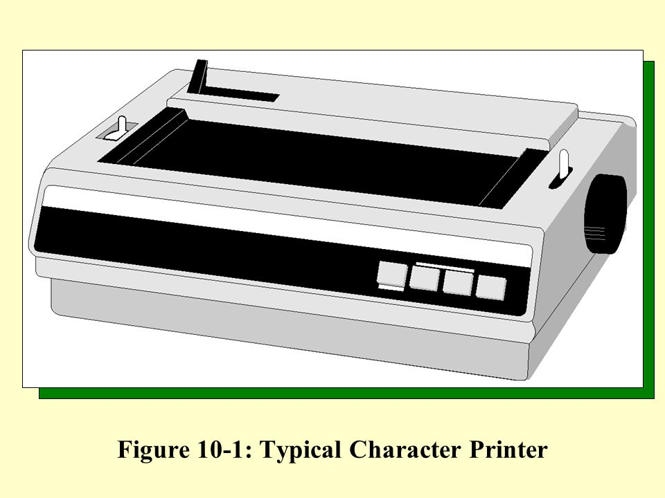 Figure 10-1: Typical Character Printer