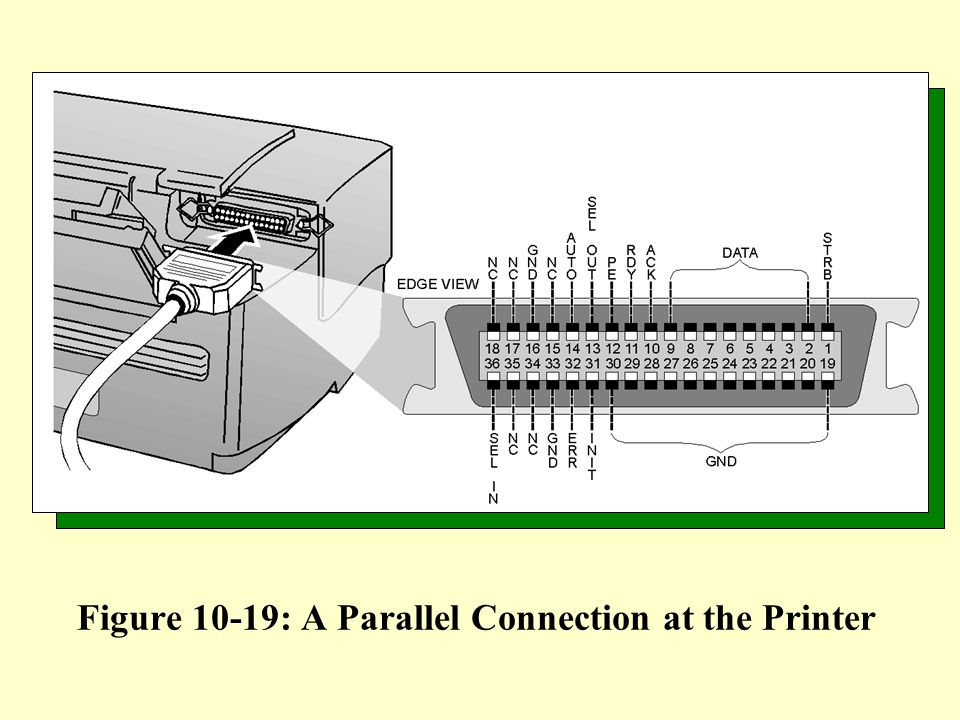 Figure 10-19: A Parallel Connection at the Printer
