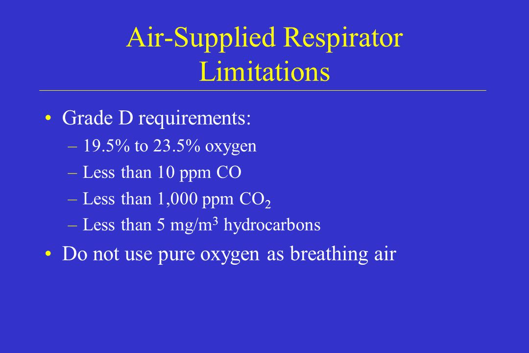 Air-Supplied Respirator Limitations