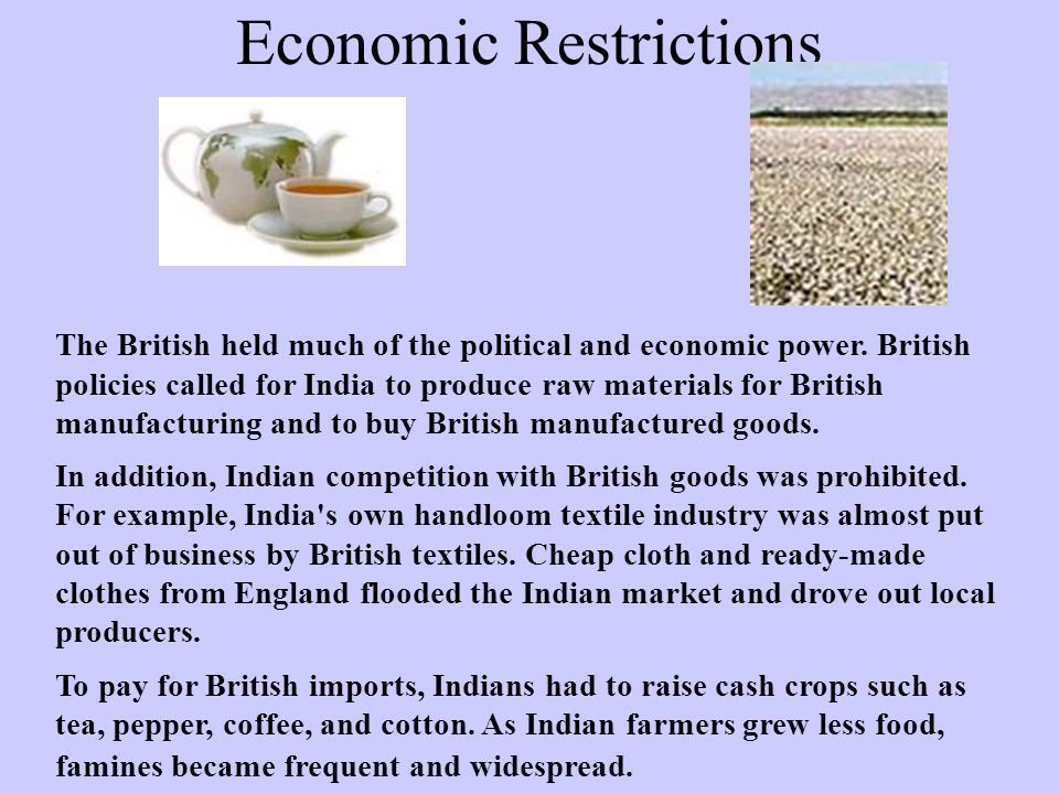 Economic Restrictions