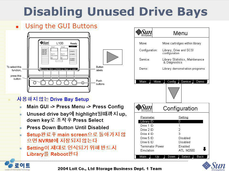 Disabling Unused Drive Bays