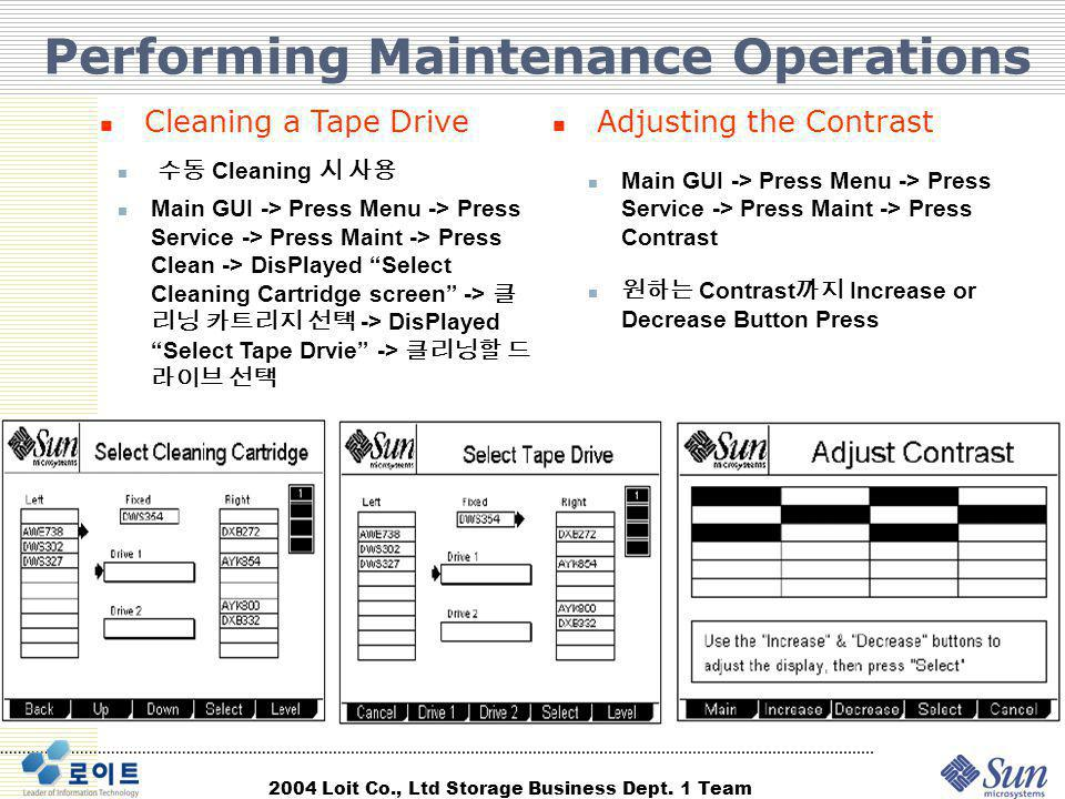 Performing Maintenance Operations