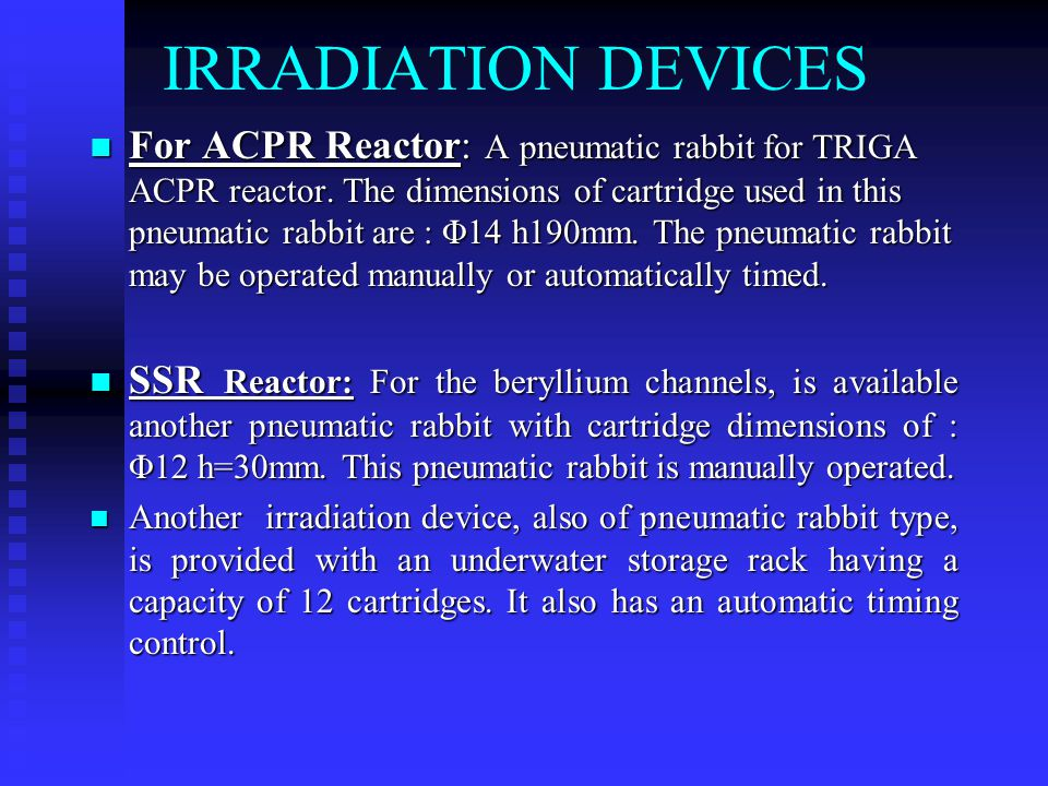 IRRADIATION DEVICES