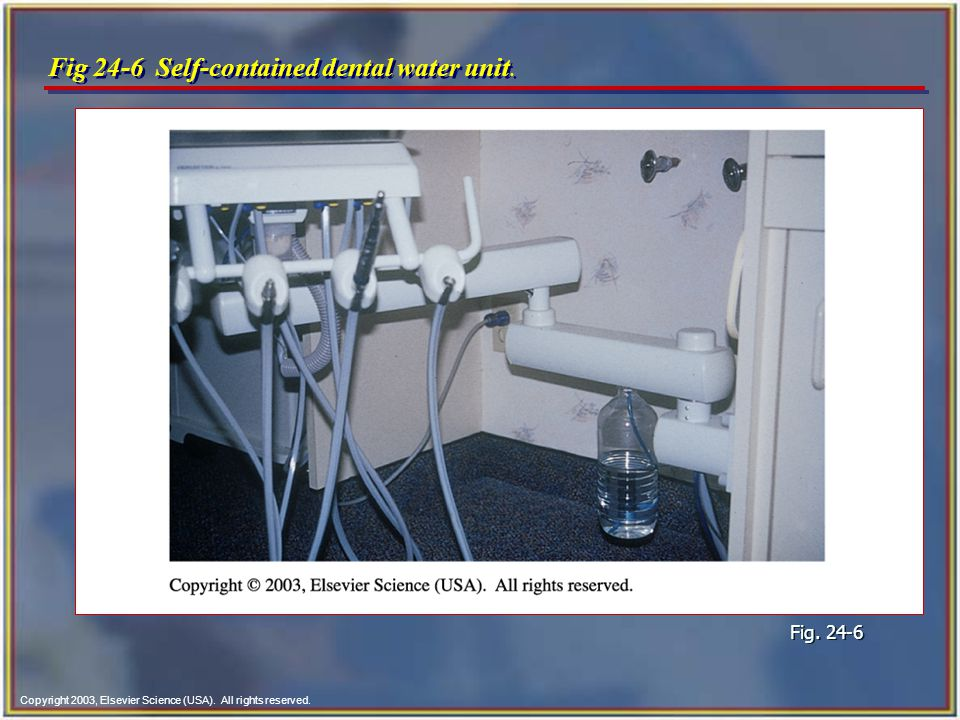 Fig 24-6 Self-contained dental water unit.