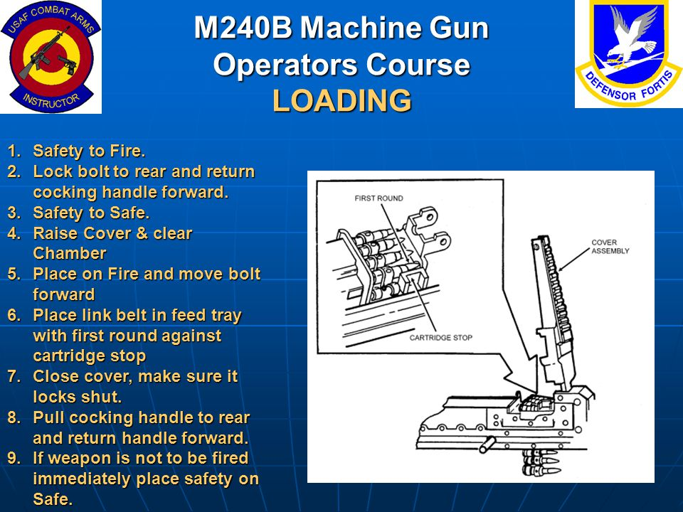 M240B Machine Gun Operators Course LOADING