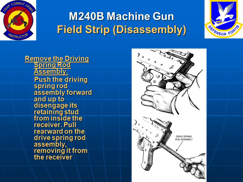 M240B Machine Gun Field Strip (Disassembly)
