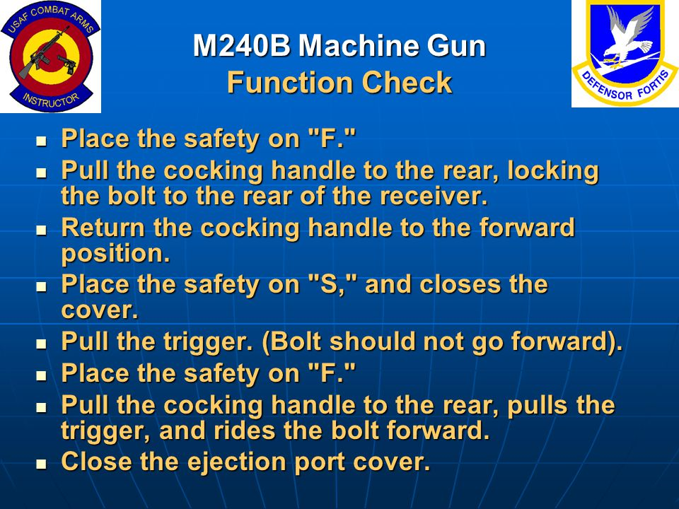 M240B Machine Gun Function Check