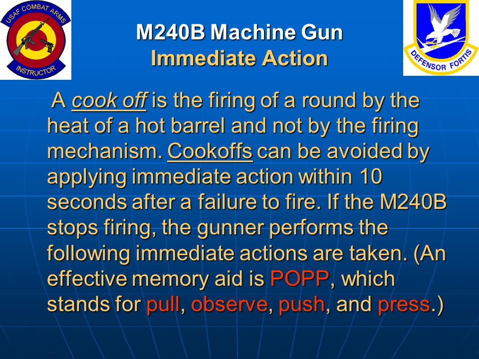 M240B Machine Gun Immediate Action
