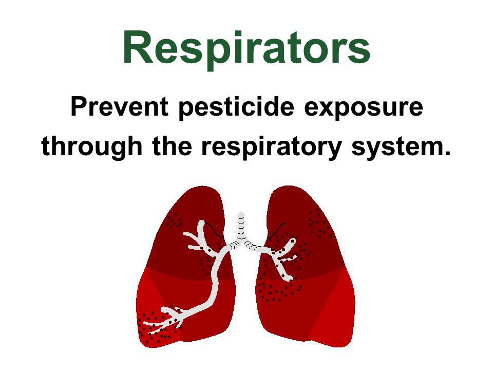 Prevent pesticide exposure through the respiratory system.