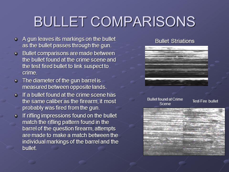Bullet found at Crime Scene