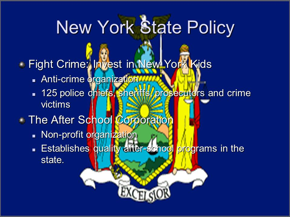 New York State Policy Fight Crime: Invest in New York Kids