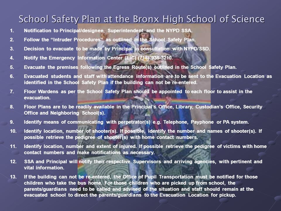 School Safety Plan at the Bronx High School of Science