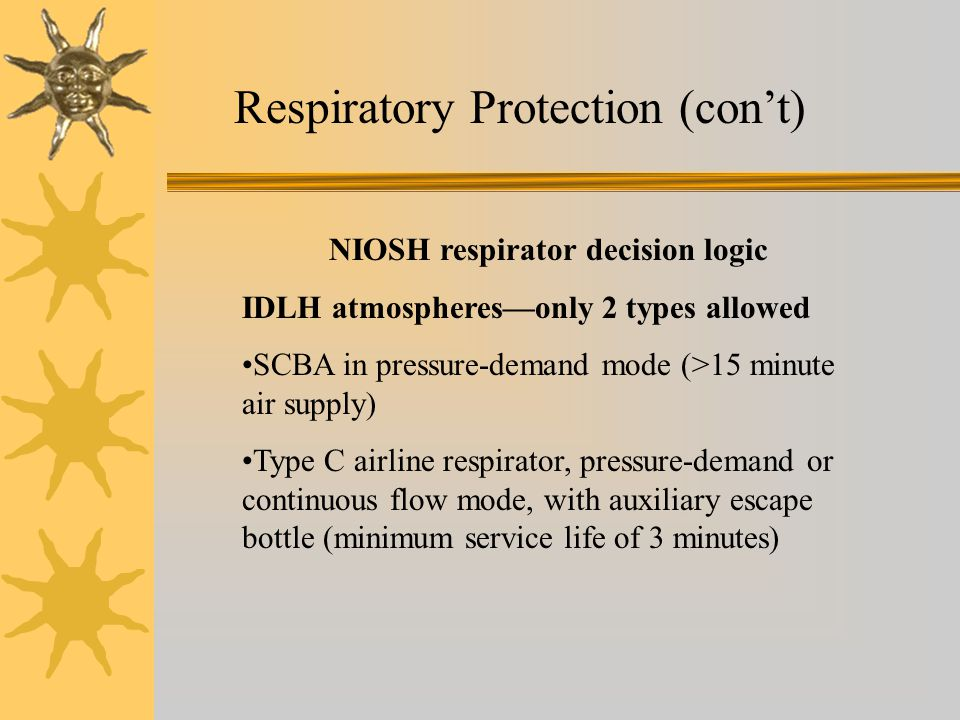 NIOSH respirator decision logic