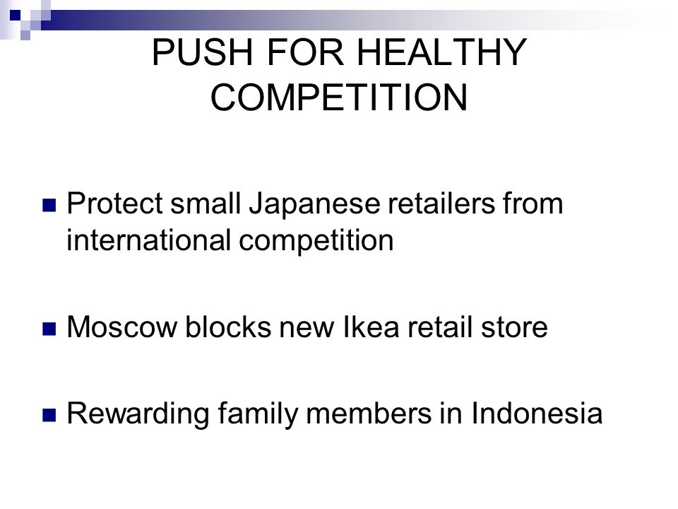 PUSH FOR HEALTHY COMPETITION