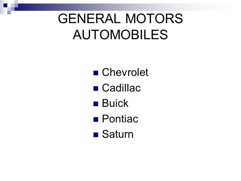 GENERAL MOTORS AUTOMOBILES