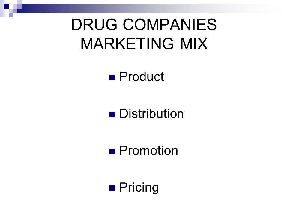 DRUG COMPANIES MARKETING MIX