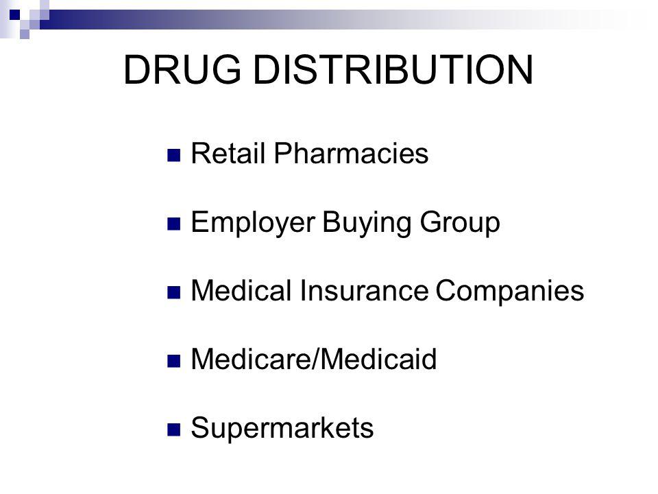 DRUG DISTRIBUTION Retail Pharmacies Employer Buying Group