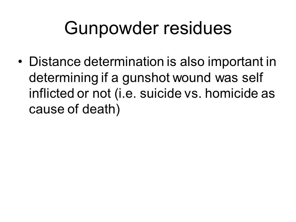 Gunpowder residues