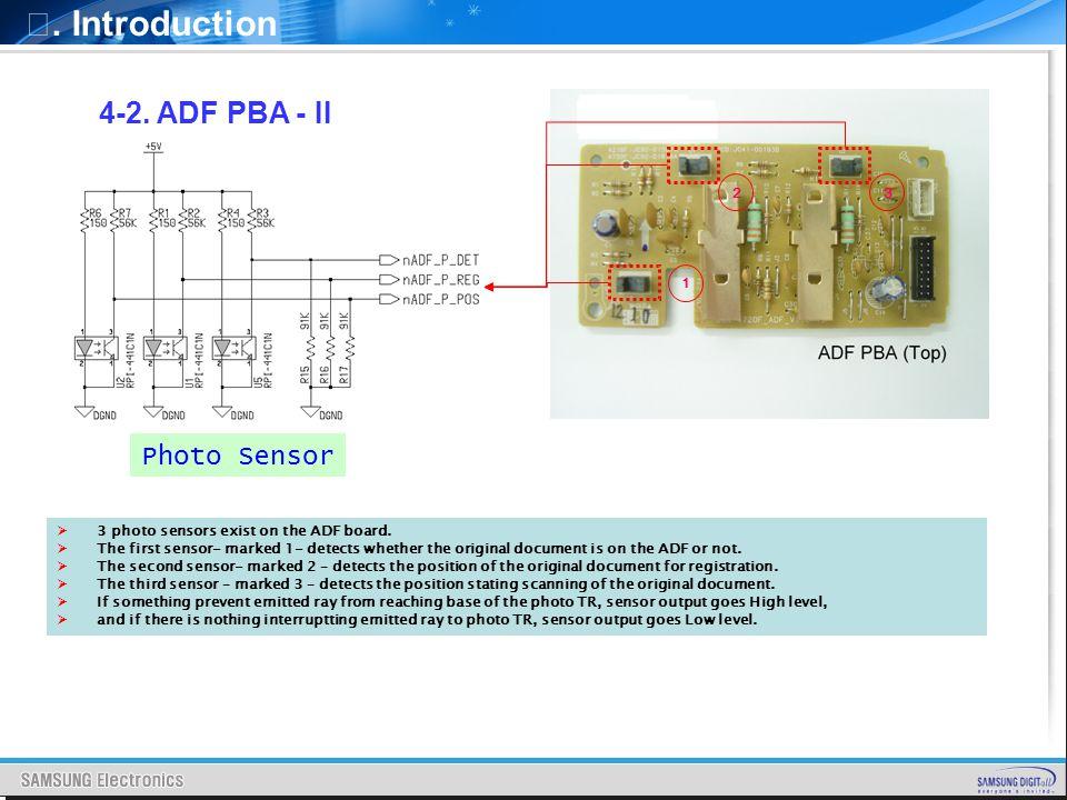 Ⅰ. Introduction 4-2. ADF PBA - II Photo Sensor 2 3 1