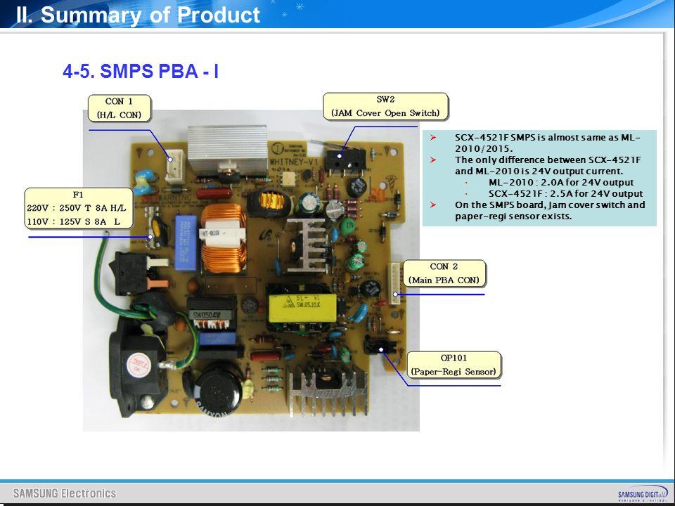 II. Summary of Product 4-5. SMPS PBA - I