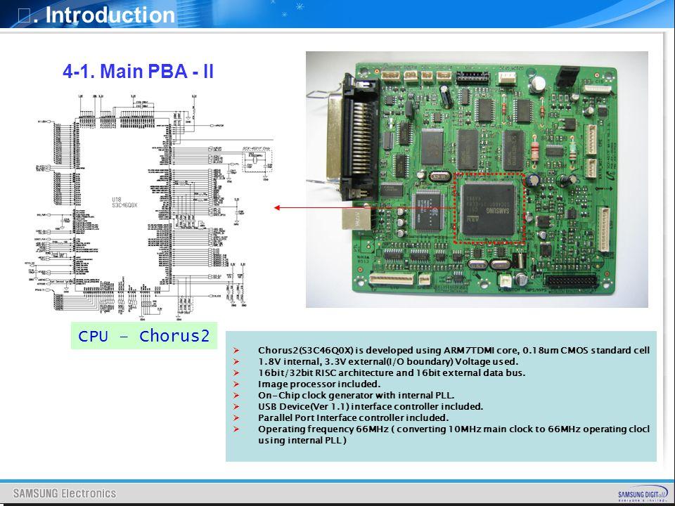 Ⅰ. Introduction 4-1. Main PBA - II CPU – Chorus2