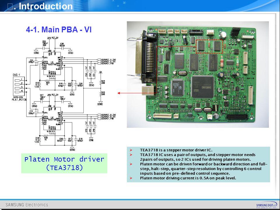 Ⅰ. Introduction 4-1. Main PBA - VI Platen Motor driver (TEA3718)