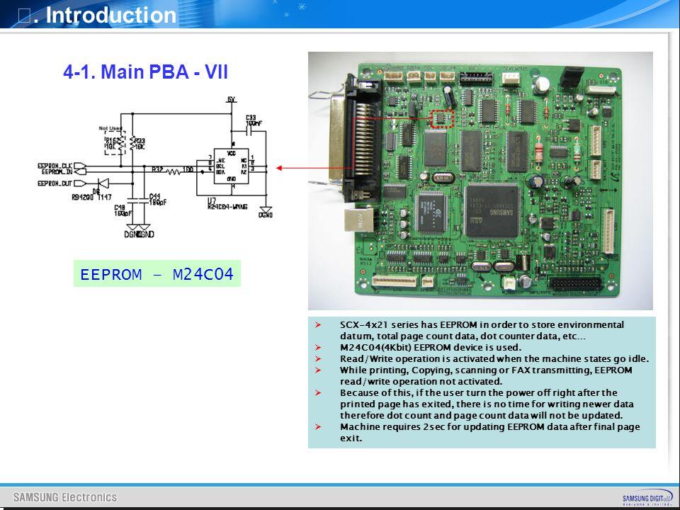 Ⅰ. Introduction 4-1. Main PBA - VII EEPROM – M24C04