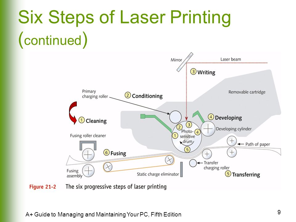 Six Steps of Laser Printing (continued)