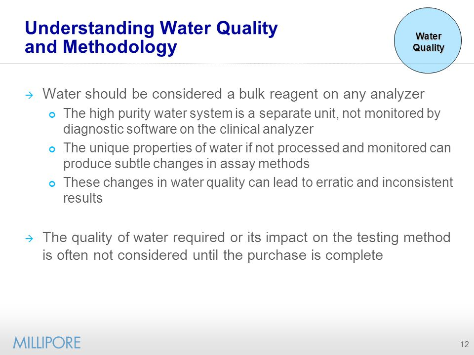 Understanding Water Quality and Methodology