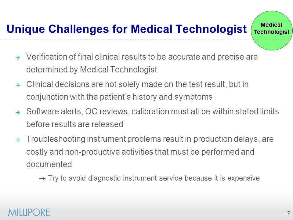 Unique Challenges for Medical Technologist