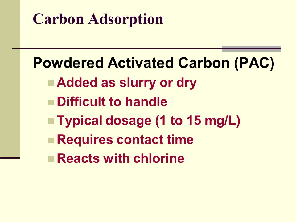 Carbon Adsorption Powdered Activated Carbon (PAC)